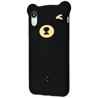 Husa pentru iPhone XR Baseus Bear Silicone (Black)