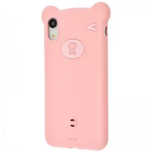 Husa pentru iPhone XR Baseus Bear Silicone (Pink)