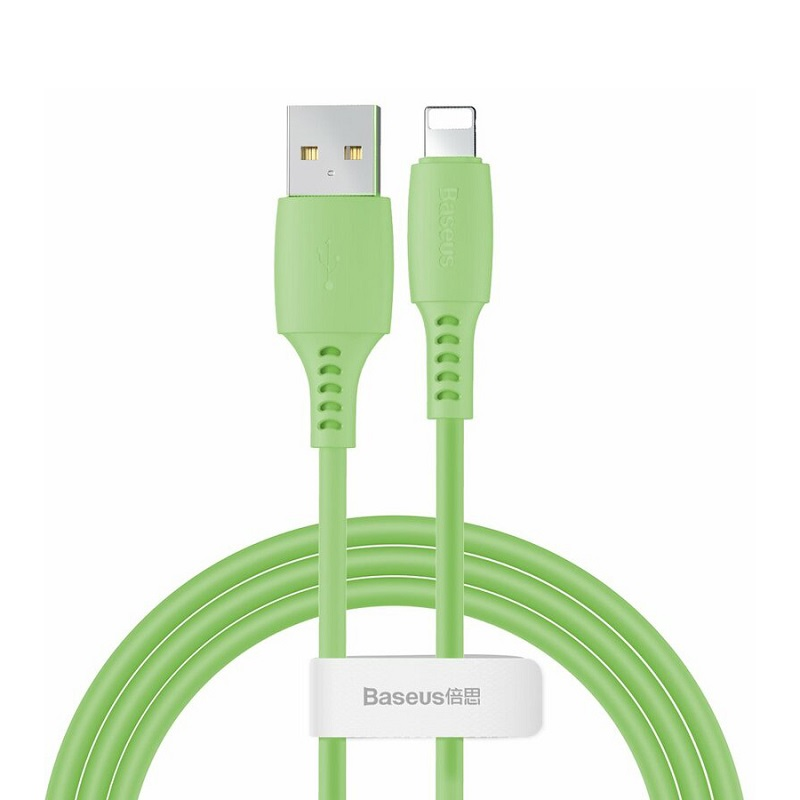 Cablu Baseus Colourful Lightning (1.2m) [Green]