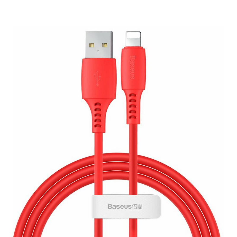 Cablu Baseus Colourful Lightning (1.2m) [Red]