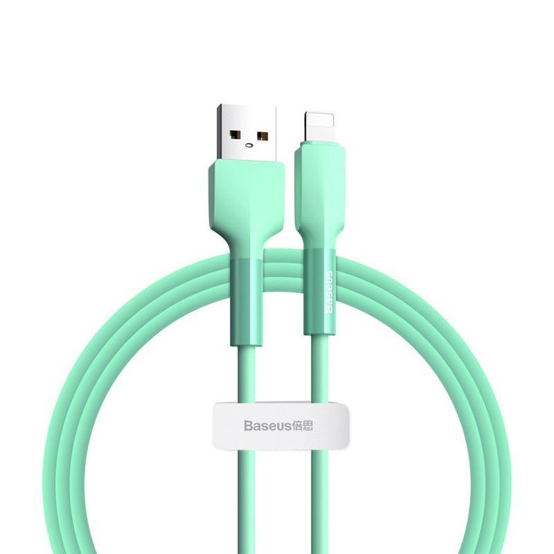 Cablu Baseus Silica Gel Lightning (1m) [Green]