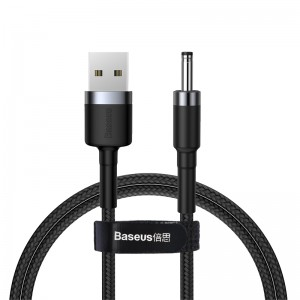 Cablu Baseus Cafule USB to DC 3.5mm (1m) [Black-Gray]