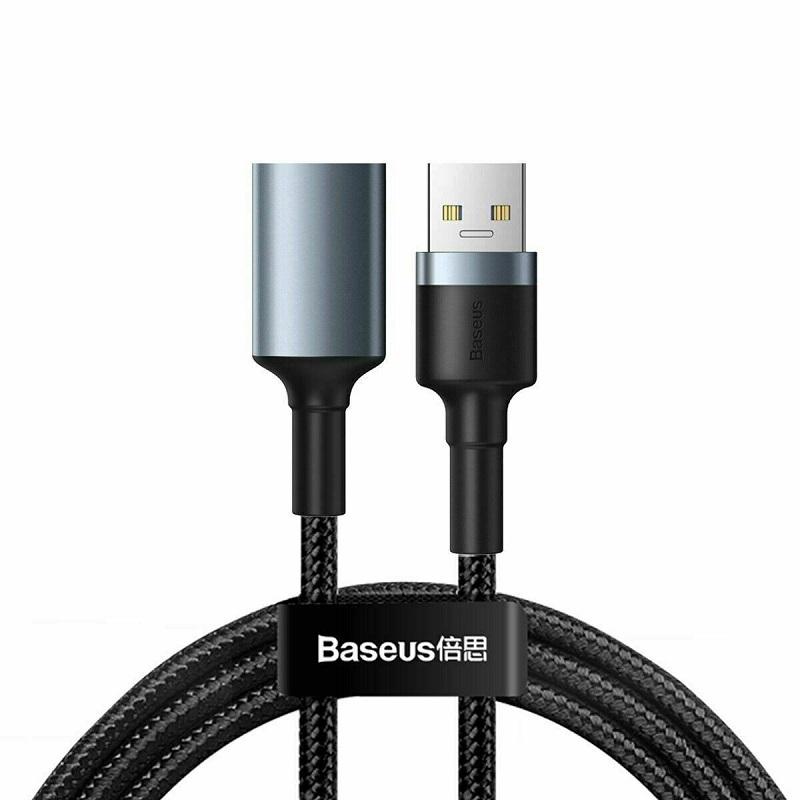 Cablu Baseus Cafule USB Male to USB Female (1m) [Black-Gray]