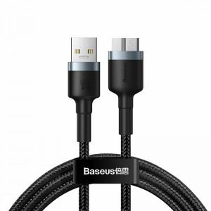 Cablu Baseus Cafule USB Male to Micro-B (1m) [Black-Gray]