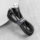 Cablu Baseus Cafule Type-C (3m) [Black-Gray]