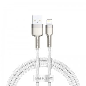 Кабель Baseus Cafule Series Metal Lightning (1м) [White]