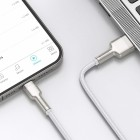 Cablu Baseus Cafule Series Metal Lightning (1m) [White]