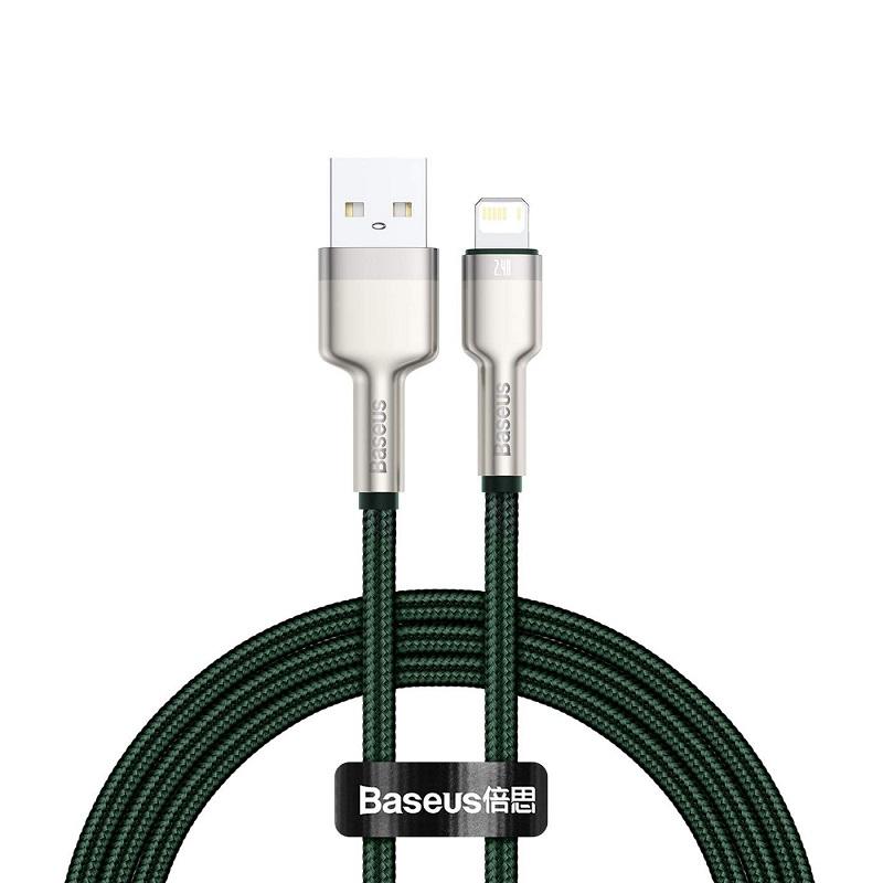 Cablu Baseus Cafule Series Metal Lightning (1m) [Green]