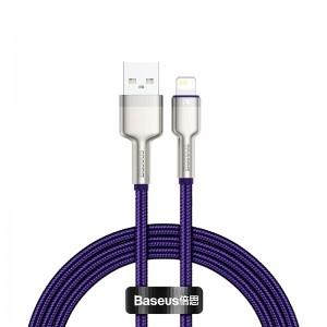 Кабель Baseus Cafule Series Metal Lightning (1м) [Purple]