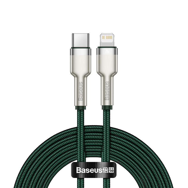Cablu Baseus Cafule Series Metal Type-C to Lightning 20W (1m) [Green]