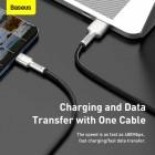 Cablu Baseus Cafule Series Metal Type-C 40W (1m) [Black]