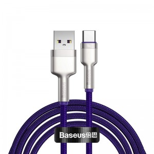 Кабель Baseus Cafule Series Metal Type-C 40W (1м) [Purple]