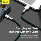 Cablu Baseus Cafule Series Metal Type-C 40W (1m) [Green]