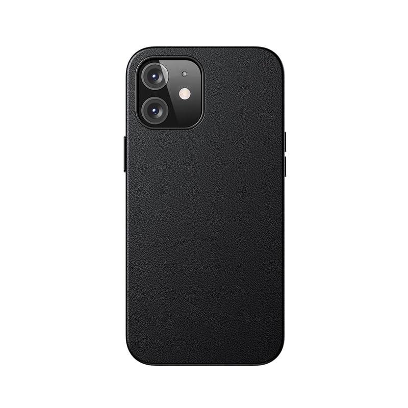 Husa Baseus Original Magnetic Leather Apple iPhone 12 [Black]