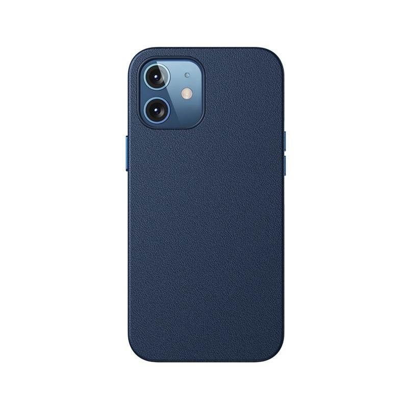 Husa Baseus Original Magnetic Leather Apple iPhone 12 [Blue]