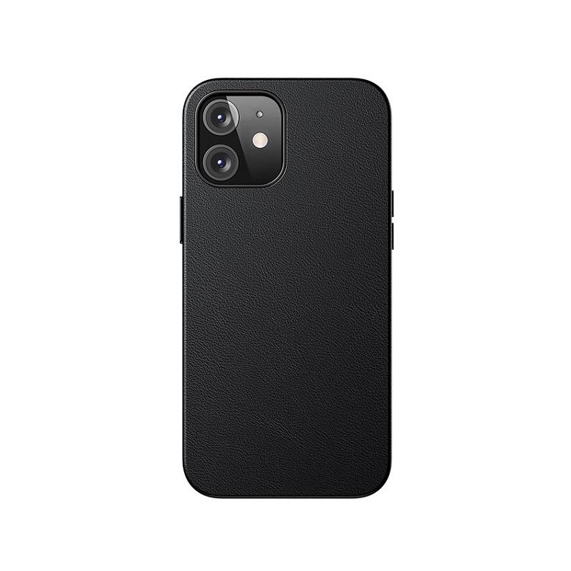 Husa Baseus Original Magnetic Leather Apple iPhone 12 mini [Black]