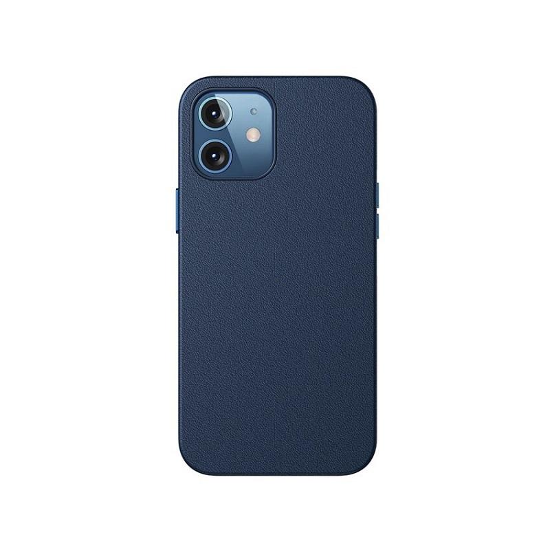 Husa Baseus Original Magnetic Leather Apple iPhone 12 mini [Blue]