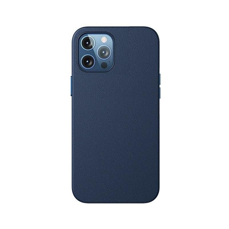 Husa Baseus Original Magnetic Leather Apple iPhone 12 Pro [Blue]