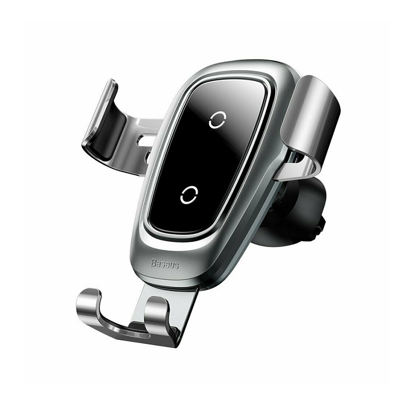 Suport auto Baseus Metal Gravity Car Mount (Wireless Charger) [Silver]