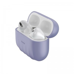 Husa Baseus Shell Pattern Silica Gel For AirPods Pro [Purple]