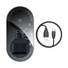 Incarcator Wireless Baseus Simple 2 in 1 (18W) [Black]
