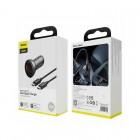 Incarcator auto Baseus Digital Display PPS (45W) + Кабель Type-C to Type-C [Black]