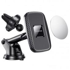 Авто держатель Borofone BH35 Magnetic (Wireless Charger 15W) [Black]