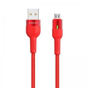 Кабель Borofone BU17 Starlight Micro-USB (1.2м) [Red]