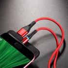 Кабель Borofone BU18 Skill Magnetic Micro USB (1.2м) [Red]