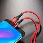 Cablu Borofone BU18 Skill Magnetic Type-C (1.2m) [Red]