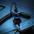 Incarcator auto Borofone BZ14 Max + Cablu Micro USB (2.4A) [Black]