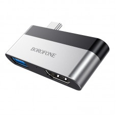 Adapter Borofone DH2 Type-C  to HDMI  + USB3.0 [Silver]