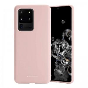 Husa Goospery Liquid Silicone Samsung Galaxy S20 Ultra [Pink-Sand]