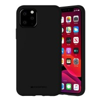 Husa Goospery Mercury Liquid Silicone Apple iPhone 11 Pro Max [Black]