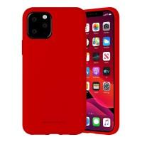 Husa Goospery Mercury Liquid Silicone Apple iPhone 12 Pro Max [Red]