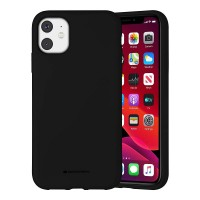 Husa Goospery Mercury Liquid Silicone Apple iPhone 12 [Black]
