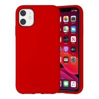 Husa Goospery Mercury Liquid Silicone Apple iPhone 12 [Red]