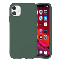 Чехол Goospery Mercury Liquid Silicone Apple iPhone 11 [Green]