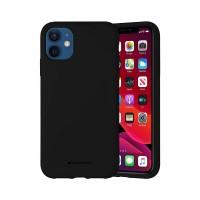 Husa Goospery Mercury Liquid Silicone Apple iPhone 12 mini [Black]