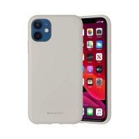 Husa Goospery Mercury Liquid Silicone Apple iPhone 12 mini [Stone]