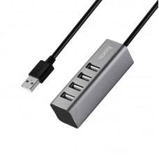 Adaptor Hoco HB1 USB to 4*USB  [Gray]