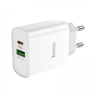 Incarcator de retea Hoco C80A Rapido (PD + QC3.0) [White]