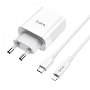 Зарядное устройство Hoco C80A Rapido + Кабель Type-C to Lightning (PD + QC3.0) [White]