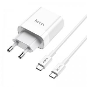 Зарядное устройство Hoco C80A Rapido + Кабель Type-C to Type-C (PD + QC3.0) [White]