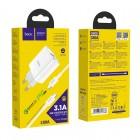 Incarcator de retea Hoco C80A Rapido + Cablu Type-C to Type-C (PD + QC3.0) [White]