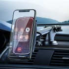 Suport auto Hoco CA75 Magnetic (Wireless Charger 15W) [Black]