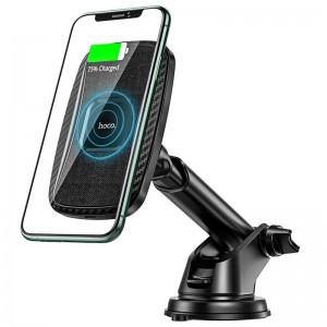 Авто держатель Hoco CA75 Magnetic (Wireless Charger 15W) [Black]