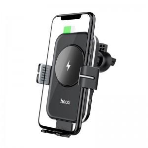 Авто держатель Hoco CA80 Buddy (Wireless Charger 15W) [Black]