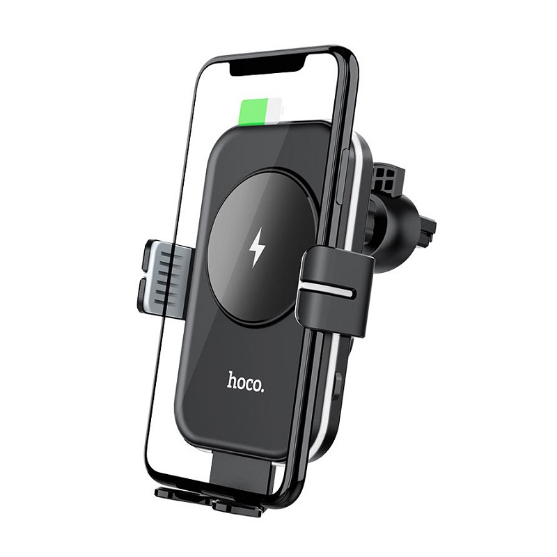 Suport auto Hoco CA80 Buddy (Wireless Charger 15W) [Black]