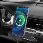 Suport auto Hoco CA90 Powerful (Wireless Charger 15W) [Black]